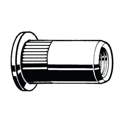 Blindklinkmoer cilinderkop open gekartelde schacht Aluminium_69315
