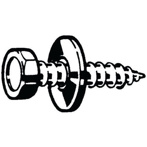 Zeskantplaatbout met punt en onverliesbare ring verzinkt staal_72045