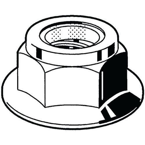 Zeskantflensmoer zelfborgend met kunststof ring RVS A2 Rechts 70_51738