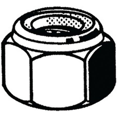 Zeskantmoer zelfborgend met kunststof ring Metalform RVS A2_51729
