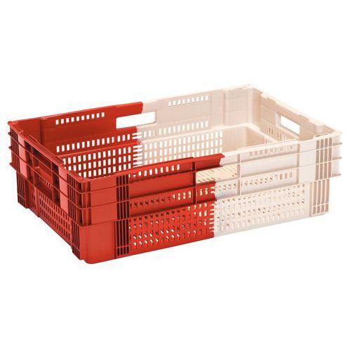 Bac gerbable grande distribution norme Europe - Longueur 600 mm - 26 à 60 L