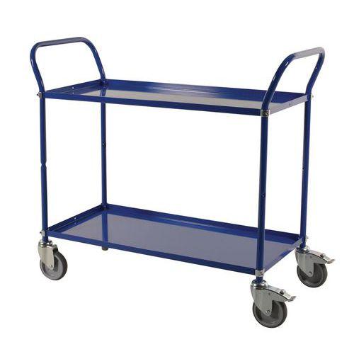 Trolley 2 metalen plateaus 250 KG