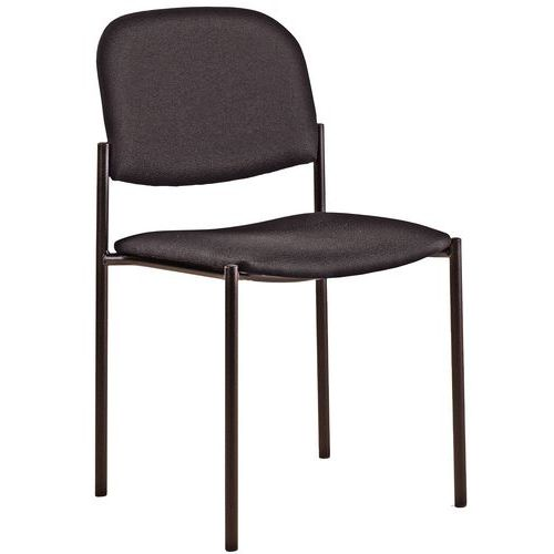 Stoel luca zwarte structuur manutan - Comfortabele stoel ...
