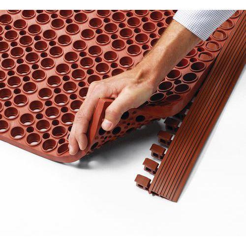 Veiligheidsrand voor moduleerbaar rooster in mat