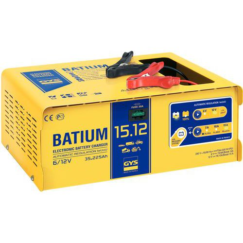 Chargeur de batterie automatique à microprocesseur 6/12 V