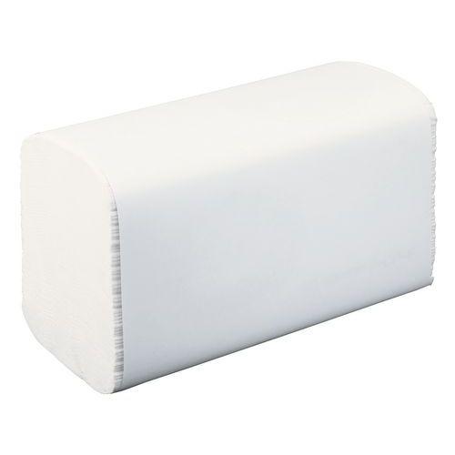 Ecologische handdoek in V-vouw naturel H3