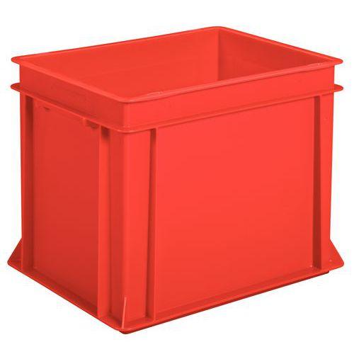 Bac norme Europe plein rouge - Longueur 400 mm -  10 à 30 L