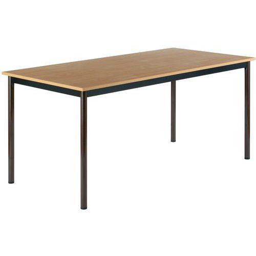 Multifunctionele rechthoekige tafel - Gemelamineerd tafelblad - Lengte 160 cm