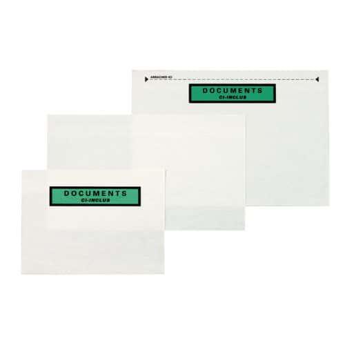 Pochette porte-documents - Papier fibres naturelles - « Document ci-inclus »