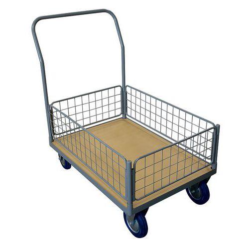 Transportwagen met draadmand klein 250 en 500 kg