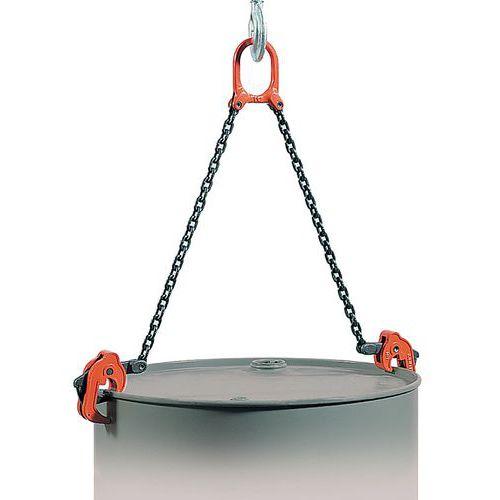 Grijper voor het verticaal hanteren van vaten van 1000 kg