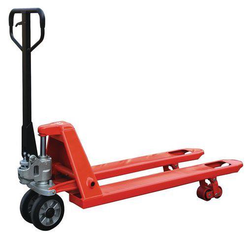 Handpalletwagen premium 2500 kg met dissel wielen