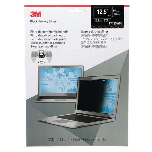 Privacyfilter zwart voor laptop van 12,5 tot 24