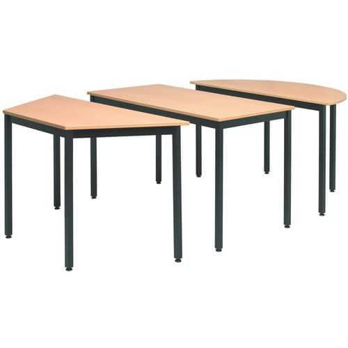 Universele modulaire tafel trapezium manutan for Table de 0 6