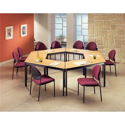 Modulaire vergadertafel Comfort - Trapezevormig