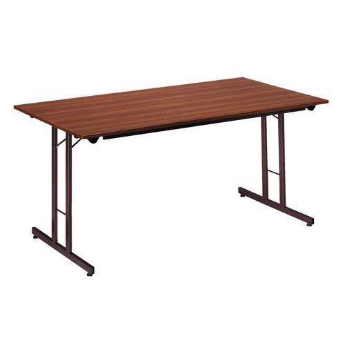 Rechthoekige, opklapbare tafel - Onderstel aan de zijkanten - L 160 cm