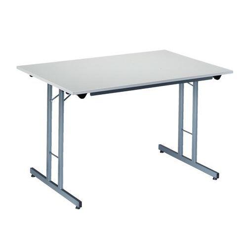 Rechthoekige opklapbare tafel onderstel aan de for Opklapbare tafel