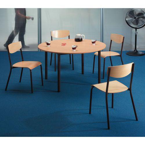 Ronde houten tafel manutan - Grote ronde houten tafel ...