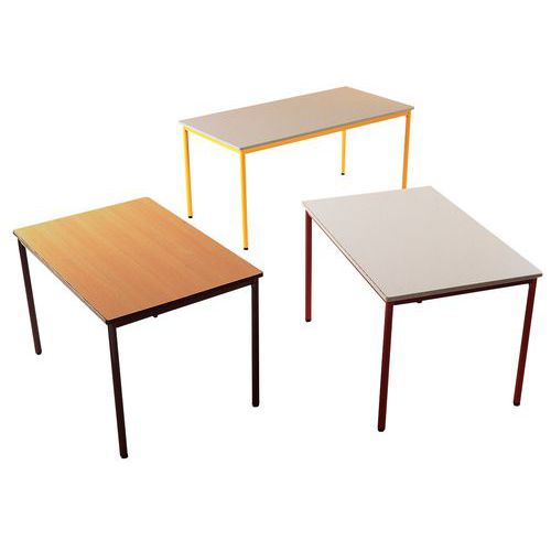 Table rectangulaire polyvalente plateau stratifi - Service de table rectangulaire ...