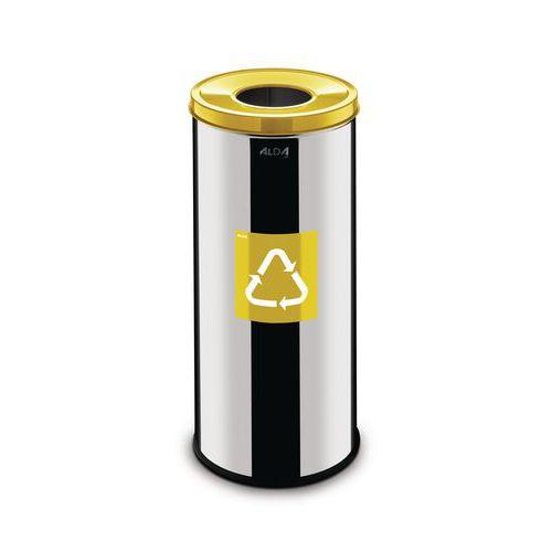 Metalen afvalbak Prestige EKO voor recycling 45l