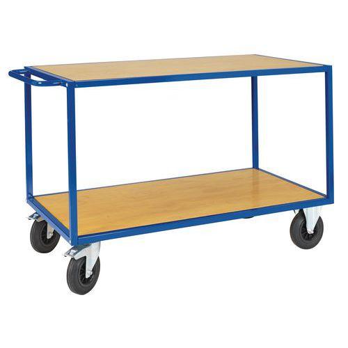 Chariot à plateaux bois - 2 plateaux - Force 500 kg