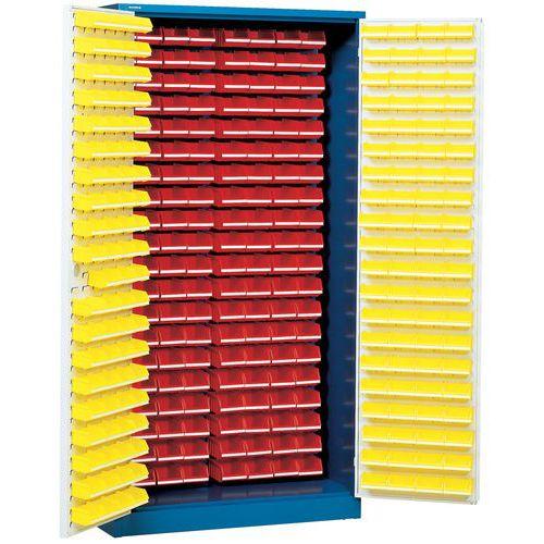 Armoire avec 320 bacs à bec - Haute - Avec portes aménagées