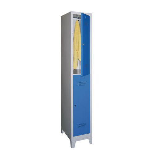 vestiaire 2 cases penderie m dium 1 colonne largeur 300 mm sur pieds. Black Bedroom Furniture Sets. Home Design Ideas