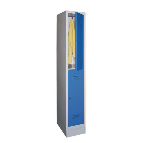 vestiaire 2 cases penderie medium 1 colonne largeur 300 mm s. Black Bedroom Furniture Sets. Home Design Ideas