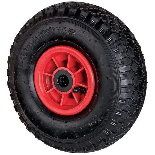 Wiel van rubber voor steekwagen - Draagvermogen 150 kg