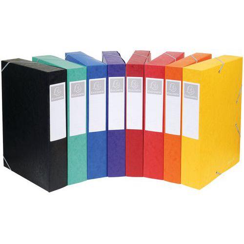 Plat geleverde dossierhouder Cartobox met rug 60 mm, glanskarton - A4.