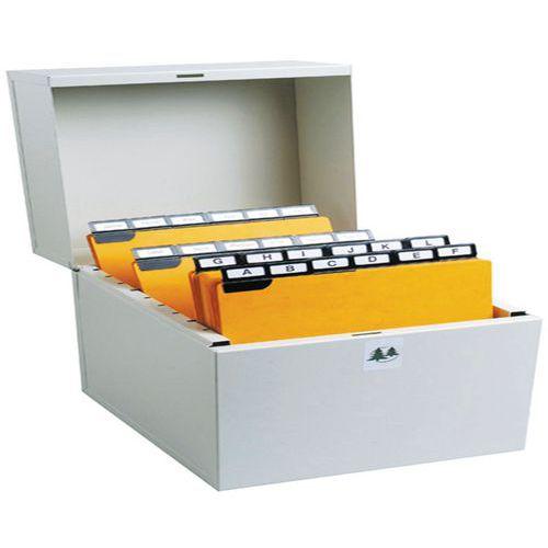 Boîte à fiches Metalib - Classement horizontal - 105x148mm à 105x150mm