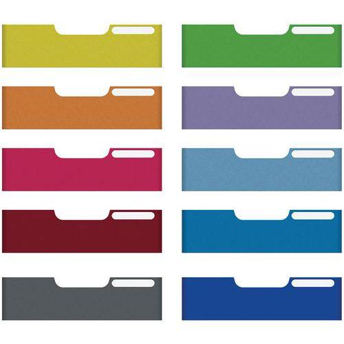 Set de 10 frontons A4 taille maxi (coloris assortis) MODULO