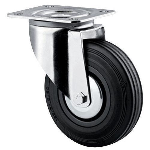 Zwenkwiel met grondplaat - Draagvermogen 40 tot 205 kg