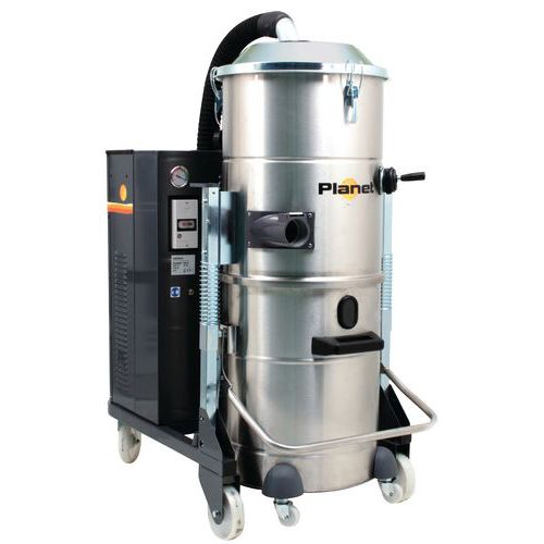 Industriële stofzuiger 4000 W driefasig rvs 100 l - ICA