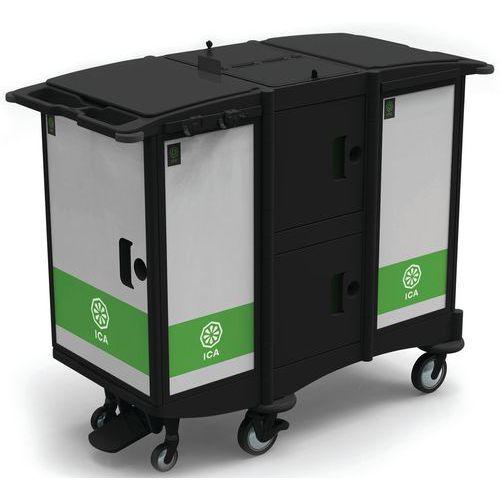 Afval verzamelwagen met dubbele kuip Black Is Green - ICA