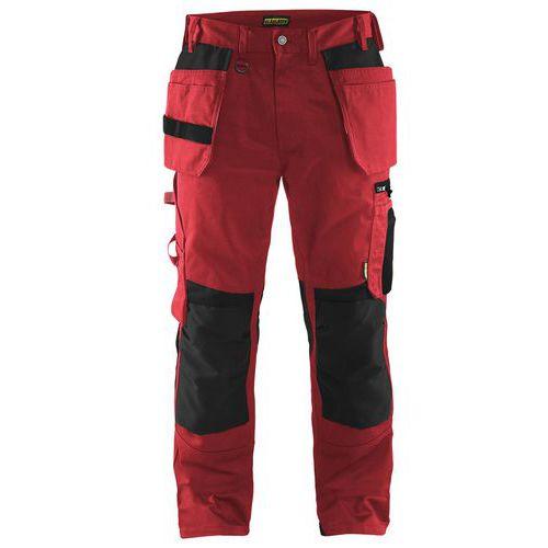 Pantalon artisan rouge/noir