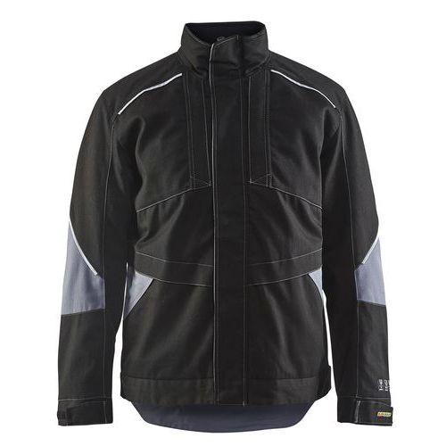 Winterjas vlamvertragend 4961 - zwart/grijs