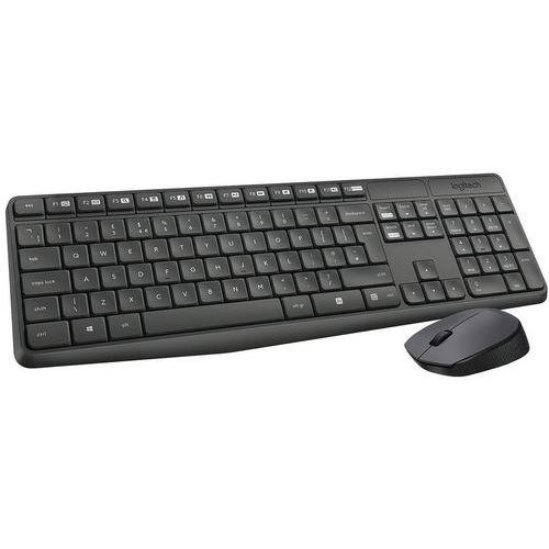 Set van draadloos Belgisch Azerty-toetsenbord MK235 met muis - Logitech