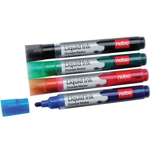 Markeerstift Drymarkers Nobo Liquid Ink Assorti