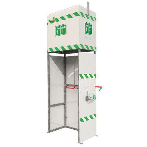 Combinatie douche en oogdouche met een niet verwarmd reservoir - voor buiten of binnen