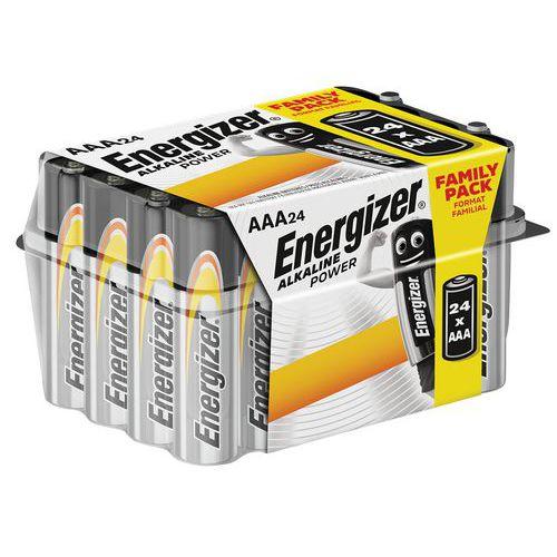 Alkalinebatterij Power AAA/LR03 Value Box - set van 24 - Energizer