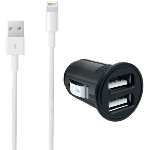 Oplader sigarettenaansteker USB + kabel Lightning Iphone - Moxie