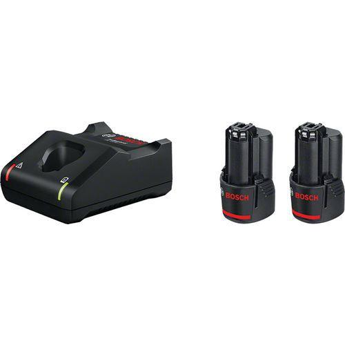 Set van 2 12V-accu's en snellader - Bosch