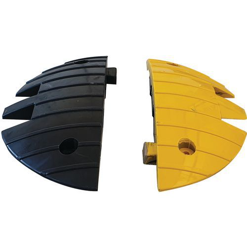 Set 2 eindstukken voor drempel voor vrachtwagen - Zwart/geel - Viso