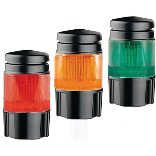 Lichtkolom met rode, oranje en groene leds