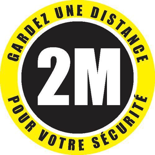 """Sticker voor vloer Veiligheidsafstand"""" - voor binnengebruik - Ø 30 cm"""