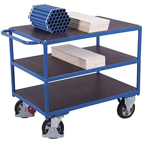 Tafelwagen zwaarlast met 3 laadvlakken