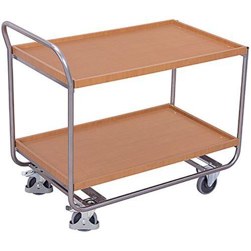 Tafelwagen Aluminium met 2 niveaus met rand
