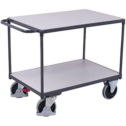 Tafelwagen zwaar ESD met 2 laadvlakken