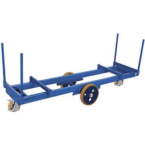 Lange materiaalwagen met 4 rongen 3000 kg